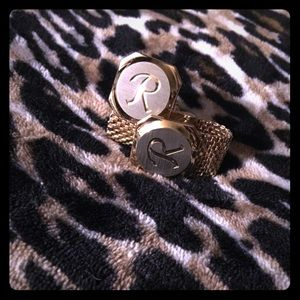 Men's cuff Links -Sterling Silver/ 24K plated